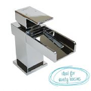 Arian 'Aster' Square Waterfall Basin Mixer Tap